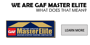 A W Restoration is GAF Master Elite Certified